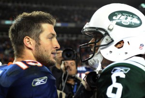 """Tim Tebow and Mark Sanchez"""