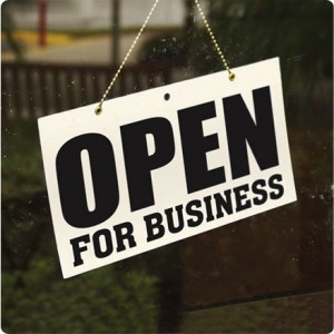 """""""Open for business"""""""