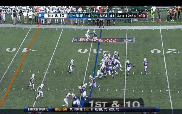 Revis beaten on the jam by a crafty Stevie Johnson.
